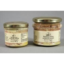 terrine d'oie au foie de canard 90g ou 180g